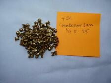 4 BA X 1/4 COUNTERSUNK / RAISED HEAD BRASS SCREWS X 25 - LIVE STEAM