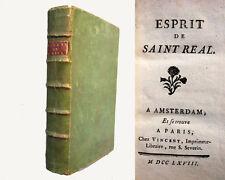 Esprit de saint real - 1768