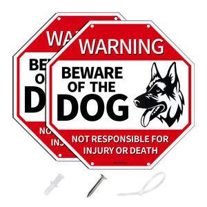 "UV Protected Reflective Aluminum Beware of The Dog Warning Sign-12"" x 12""x0.04"""