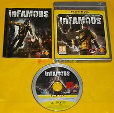 INFAMOUS 1 Ps3 Versione Ufficiale Italiana Platinum ••••• COMPLETO