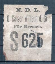 Bateau à vapeur Kaiser Guillaume le Grand: original bagages-remorque de 1900