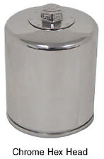 CHROME HEX HEAD OIL FILTER FOR HARLEY TWIN CAM 1999 & LATER Rep HD# 63798-99A