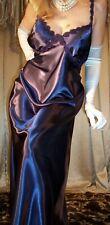 Vtg Style Shiny Purple Satin Long Nightgown Negligee Lingerie Slip 48 50 3X