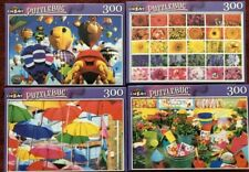 "Lot of 4 Cra-Z-Art Puzzlebug 300 Piece Colorful Jigsaw Puzzles 18.25"" x 11"""