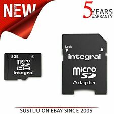 Integral 8GB Micro SD Card with SD Adaptor|Class 4|MICROSD8GB|5-Year Warranty