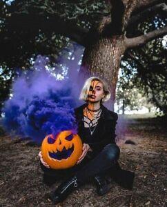 smoke bombs 5 pc for Halloween festival pumpkin and gender revel