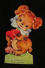 Vintage Pekingese Valentine Card 1940S Unsigned A-meri-card