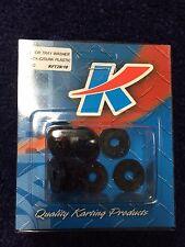 Go Kart - Floor Tray Washer C/Sunk Black Plastic 6mm Pkt 10 - NEW