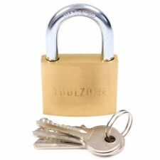 More details for 6 x large 50mm high quality brass padlock set gate shed door heavy duty security