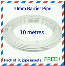 10mm X 10m Pipe Coil Inserts White Plastic Pushfit Plumbing Pipe Flexible