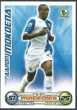 TOPPS MATCH ATTAX 2008-09-BLACKBURN ROVERS & SOUTH AFRICA-AARON MOKOENA