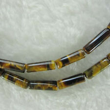 "4x14mm Tube Tiger Eye Beads Loose Gemstone Beads Strand 15"" Jewelry Making Beads"