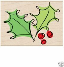 "HERO ARTS ""FANCY HOLLY"" RUBBER STAMP"