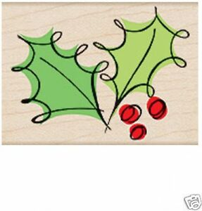 """HERO ARTS """"FANCY HOLLY"""" RUBBER STAMP"""