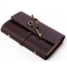 Ancicraft Refillable Leather Journal Diary with Key 3.75 X 6.75 Inches A6 Lined