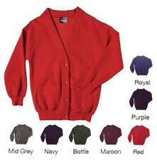 Girls School Sweatshirt Cardigan Fleece School Uniform Front Pockets GC3128