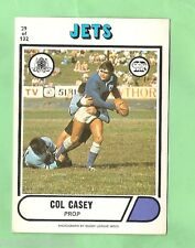 1976 SCANLENS RUGBY LEAGUE CARD #29  COL CASEY, NEWTOWN JETS