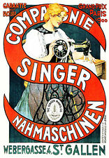 1900 Singer Sewing Machine Poster Grand Prix 1900 11 x 17 Giclee Print