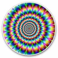 2 x Vinyl Stickers 7.5cm - Psychedelic Pattern Rainbow Cool Gift #8946