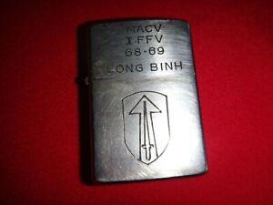 Vietnam War Year 1968 Zippo Lighter MACV IFFV 68-69 LONG BINH, 2nd FIELD FORCE