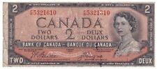 "Canada / Kanada 2 Dollars 1954 ""Devil's Face""P.38"