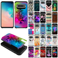 For Samsung Galaxy S10 6.1 inch Fusion Hybrid Hard Rubber Silicone Case Cover