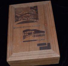 Vintage Candy Wooden Box GRISWOLD'S Rest. Hollywood Pasadena Claremont SAGE HENS
