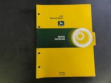 John Deere 410 Round Baler Parts Catalog  PC-1626