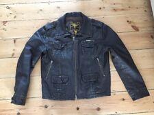 Superdry Pour Homme Brad Brown Veste en cuir style vintage XXL Beckham