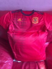 Adidas Spain Home Jersey Soccer Team Nwt Size M Women's Red