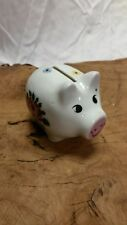 Vintage German Floral Piggy Bank