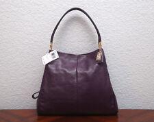 NWT COACH Madison Leather Small Phoebe Shoulder Bag 26224 BLACK VIOLET PURPLE