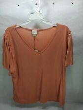 """Target """"A New Day"""" Women's Coral Short Sleeve Top Size XL New"""