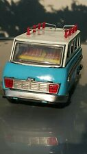 VINTAGE BUS TOURING MF 243 TIN TOY 60's SHUTTLE COACH FRICTION CHINA WORKS