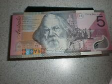 1901-2001 Australia $5 bill Note, Catherine Helen Spence, Henry Parkes mint