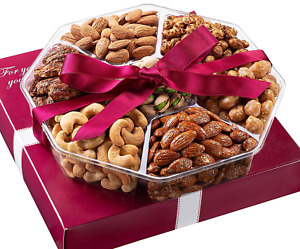 Holiday Nuts Gift Basket - Fresh Sweet & Salty Dry Roasted Gourmet Nuts Gift Bas