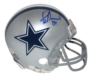 Jay Novacek Autographed/Signed Dallas Cowboys Mini Helmet BAS 31350
