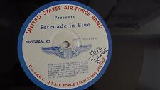 16-inch Transcription  - United States Air Force Band Serenade In Blue