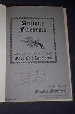 1945 Antique Firearms Sale, including Paterson Colts Revolvers