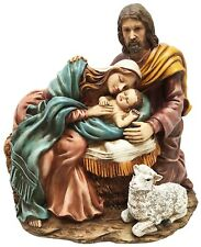 Holy Family Sculpture of Mary Joseph and Baby Jesus Nativity Bethlehem Figurine