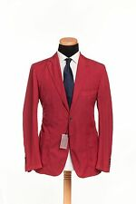 BELVEST Made in Italy Jacket Blazer Washed Cotton Red Antique 46 US 56 EU 7 R