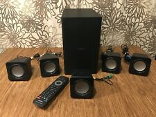 Philips 5.1 Home Theater Surround Sound Speakers W/ Subwoofer Remote HTS3541/F7