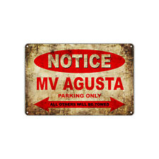 MV AGUSTA Motorcycles Parking Sign Vintage Retro Metal Art Shop Man Cave Bar