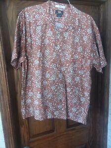 Route 66 Men's Size Large Hawaiian Aloha Shirt Short Sleeve Cotton  Print