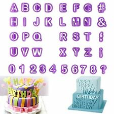 40pcs Alphabet Letter Number Biscuit Cookie Cutters Cake Decorating Mold Tool