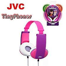 JVC Tiny Phones Childrens/Girls/Kids Pink/Purple Headphones  HA-KD5-P NEW