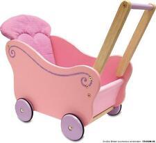 I´m Toy rosa Puppenwagen mit Wendekissen im Schiebewagen pink gummierte Räder