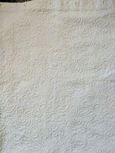 """Shower Curtain Matelassé Cotton Bath 67x63"""" White"""