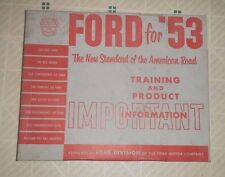 1953 Ford  OEM Ford 1953 Dealers Models Training Films Records cars and trucks