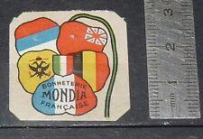 DELANDRE CINDERELLA 1915 TIMBRE VIGNETTE GUERRE 14-18 BONNETERIE MONDIA ALLIES